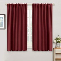 """RYB HOME Red Drapes Blackout Curtain Panels Decor Width 42"""" by Length 45... - $19.43"""