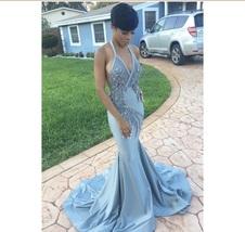 6jzlyk l 610x610 dress blue prom dress prom fitted blue sexy blue mermail dress mermaid thumb200