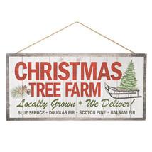 Christmas Tree Farm Wall Plaque: MDF, 13.98 x 6.77 inches w - $8.99