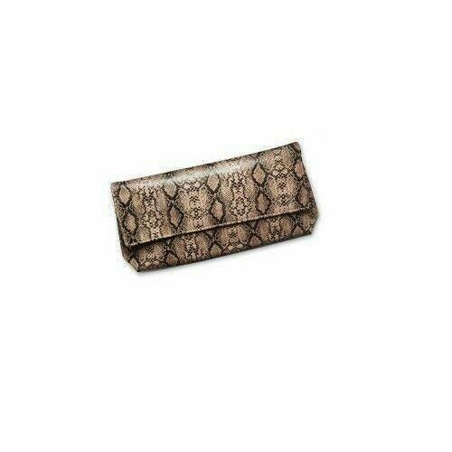 Primary image for New Estee Lauder Python Print Pattern Makeup Cosmetic Clutch Bag
