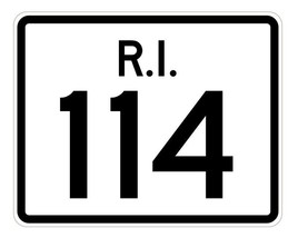 Rhode Island State Road 114 Sticker R4247 Highway Sign Road Sign Decal - $1.45+