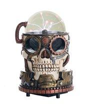 Steampunk Gearwork Plasma Skull Desktop Collectible 7 Inch H - $49.49