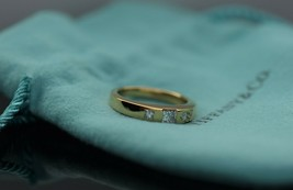 Tiffany & Co 18K Yellow Gold Princess Cut Diamond Wedding Ring 0.30ct - $989.99