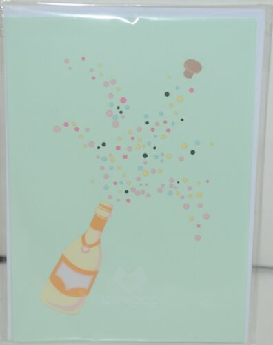 Lovepop LP1935 Champagne Pop Up Card Green Envelope Paper Cellophane Wrapped