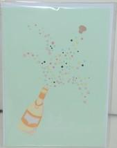 Lovepop LP1935 Champagne Pop Up Card Green Envelope Paper Cellophane Wrapped image 1