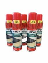 (5) Cans Magic Granite Cleaner & Polish Aerosol 17 oz DISCONTINUED RARE HTF - $111.85