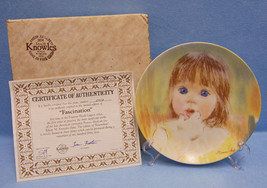 Knowles Collector Plate Fascination 1985 Frances Hook Legacy Child Sees ... - $9.85