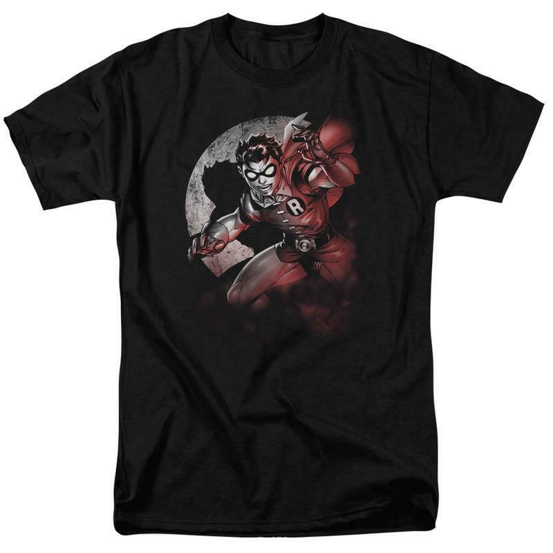 Robin t-shirt Boy Wonder Batman DC comics retro graphic tee BM2126
