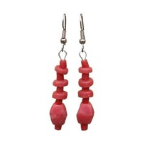 Pink Poppy Glass Pebbles Earrings - Global Mamas - $17.19