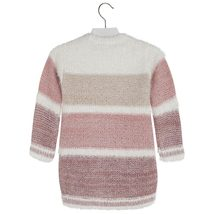 Mayoral Little Girls 2T-9 Colorblock Stripe Soft Fuzzy Knit Sweater Dress image 2