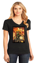 GI Joe District Made Ladies Perfect Weight V-Neck T-Shirt Size XS To 4XL - $19.99+
