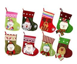 PANDA SUPERSTORE 3 Pieces Christmas Stockings/Stocking for Decorations, Random S