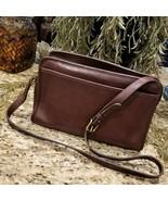 RARE Vintage COACH Bonnie Cashin New York City Mahogany Brown Leather Purse - $129.95