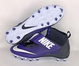 Nike Lunarbeast Strike Pro Cleats Football Black/Blue/White SZ 16 NWT FREE SOCKS - $26.15