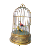 Bontems Reuge Musical Birdcage with Handwind Mechanism Novelty Collectible - $1,551.08