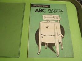 1#     1953 ABC WASHING MACHINE MODEL 350 & 350-P OPERATING INSTRUCTIONS - $9.87