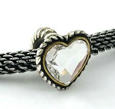 Brighton Corina Ring Charm, JC2681 Silver Finish/Clear Crystals, New - $22.79
