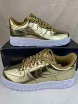 Nike Air Force 1 Low White Metallic Gold Women's Shoes Size 6 CQ6566-700 - $113.80