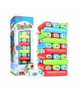 WHOLETHINGS Tumbling Tower Stacking Blocks,Colored Cartoon Plastic Build... - $14.11
