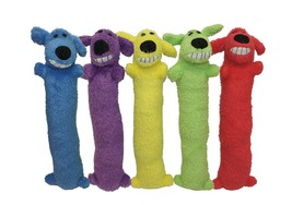 Loofa Dog Plush Dog Toy (Colors May Vary) Small 12 Inch - $9.39 CAD