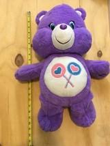 Purple Care Bear Large Plush Stuffed Toy 20 Inches - $27.75