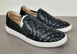 UGG Cas Perforated Slip-On Sneaker, Black Leather, Womens Size 6.5 - $62.99