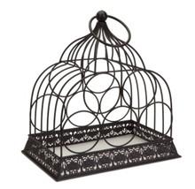 """Melrose 15"""" Rustic Metal Birdcage 5-Bottle Decorative Wine Rack Holder - $77.95"""