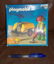 NEW Playmobil 3270 Jack Hammer & Construction Worker City Series MIB - $26.00