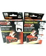 Gardner Bender Lot of Insulated Staples multi-size! - $7.83