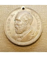 1881 Brass Token James A Garfield Canal Boy to President Commemorative I... - $44.55