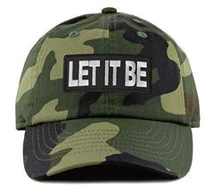 An item in the Sports Mem, Cards & Fan Shop category: Let It Be Hat - Adjustable Strapback Dad Cap Style (Camo)