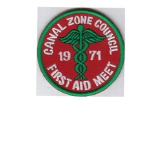 Boy Scouts Canal Zone, Panama, BSA, CZ Council 1971 First Aid Meet 3 in - $9.99