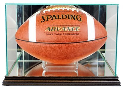 Perfect Cases NFL Rectangle Football Glass Display Case, Black