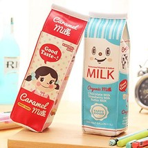 Pencil Case Packs 2 Colors of Set by Shining Soul, Exquisite Milk Cartons Waterp
