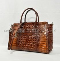 NWT Brahmin Harper Leather Satchel/Shoulder Bag in Pecan Melbourne - $349.00