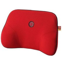 Comfortable Back Support Lumbar Support Soft Car Seat Cushion Back Brace Red