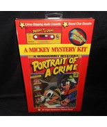 VINTAGE DISNEY MICKEY MYSTERY KIT READ ALONG STORY BOOK & CASSETTE TAPE ... - $28.05