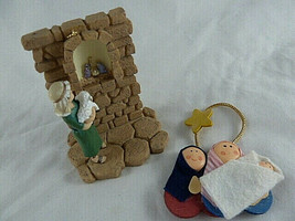 Nativity Holy Family Christmas Ornaments Shepherd Boy 2004 daysprings - $8.90