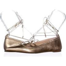 MICHAEL Michael Kors Tabby Flat Lace Up Ballet Flats 318, Pale Gold, 7.5... - $50.87