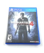 Uncharted 4 A Thiefs End Sony PlayStation 4 PS4 Video Game 2016 Tested - $9.89
