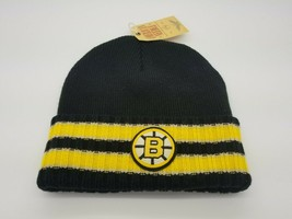 Boston Bruins Black Stripped Beanie American Needle Yellow NHL Hockey Cl... - $24.70