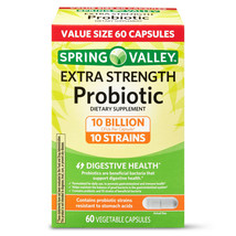 Spring Valley Extra Strength Probiotic Vegetable Capsules, 60 Capsules - $39.35