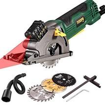 "Mini Circular Saw with Laser, TECCPO 4.8Amp 3-3/8"" Compact Circular Saw,... - $103.73"