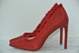 NEW Nine West Thayer Womens Sz 10 M Red Silk Textile Pumps Heels - $39.59