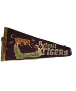 pennant baseball Briggs Stadium Detroit Tigers 1950 Is 27 Inches Long Ma... - $174.75