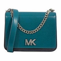 Michael Kors Mott Chain Swag Leather Shoulder Bag, Teal/Admiral $298 - $202.50