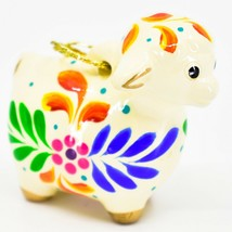 Handcrafted Painted Ceramic Sheep Lamb Confetti Series Ornament Made in Peru image 2