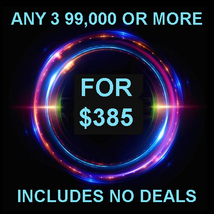 THROUGH WED PICK 3 $90,000 OR MORE FOR $385 INCLUDES NO DEALS MYSTICAL T... - $0.00