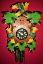 Multi-Colored Old Style Cuckoo clock #5 w/Night Silencer-Free USA Shipping! - $109.00