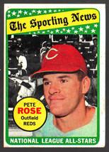 1969 Topps #424 Pete Rose All-Star Reds HOF Ex+ - $7.38